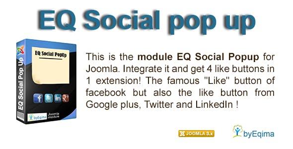 EQ Social Popup