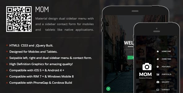 MOM | Sidebar Menu for Mobiles & Tablets