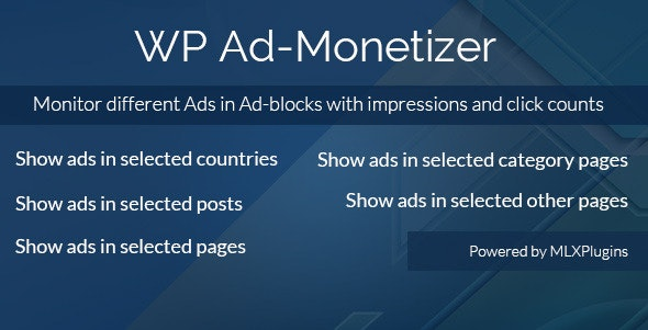 WP Ad-Monetizer - CodeCanyon Item for Sale