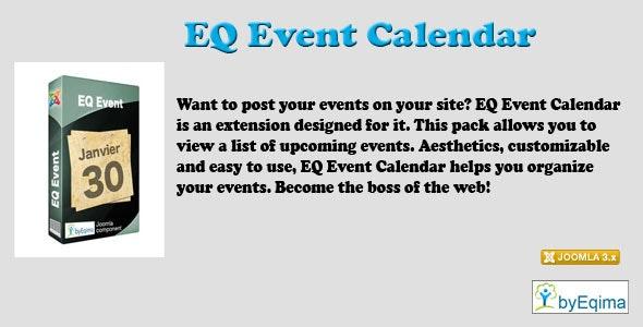 EQ Event Calendar  - CodeCanyon Item for Sale