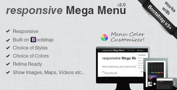 responsive Mega Menu for Bootstrap