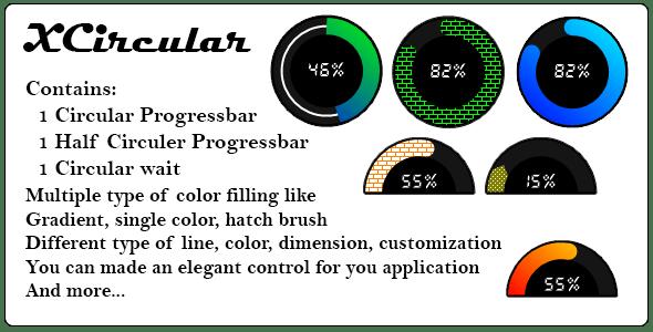 XCircular .Net custom control