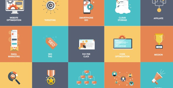 16 Animated SEO Icons - CodeCanyon Item for Sale