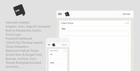 Dan - Social Snippets Application - CodeCanyon Item for Sale