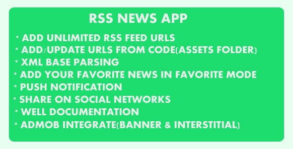 Rss News App - CodeCanyon Item for Sale