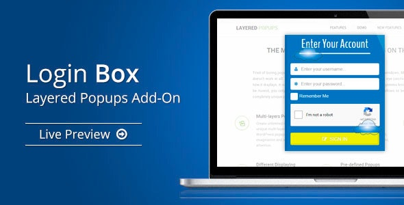 Login Box - Layered Popups Add-On - CodeCanyon Item for Sale