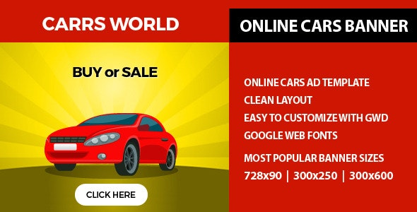 GWD Ad Banner - Carrs World - CodeCanyon Item for Sale