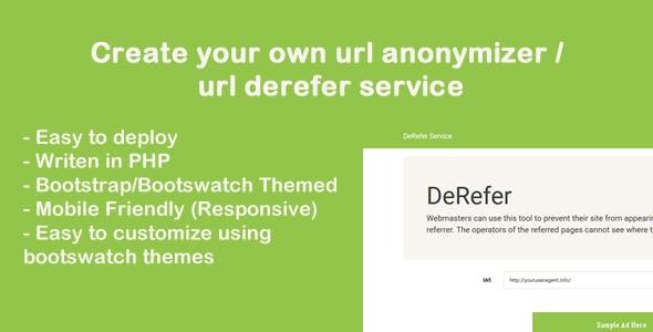 Website Dereferer System