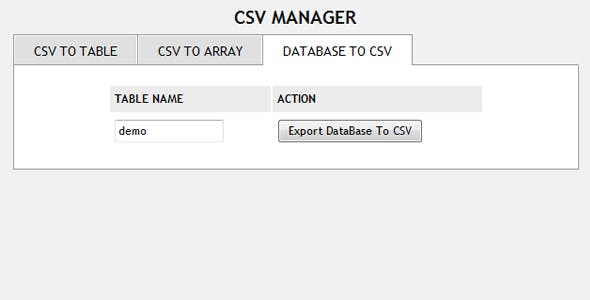 Csv PHP Scripts from CodeCanyon