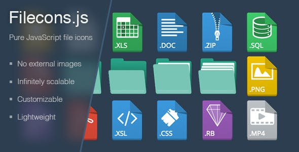 Filecons - Pure JavaScript File Icons