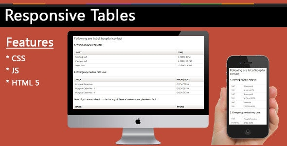 Responsive Tables - CodeCanyon Item for Sale