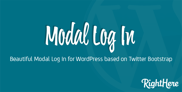 Modal Log In for WordPress        Nulled
