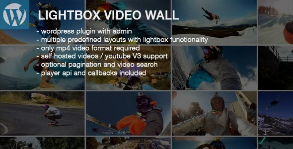 Lightbox Video Wall Wordpress Plugin - CodeCanyon Item for Sale