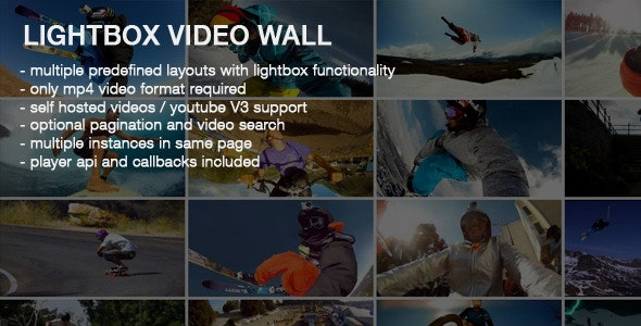 Video Wall With Lightbox - CodeCanyon Item for Sale