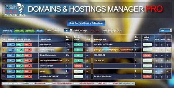 Advanced Domains and Hostings PRO v3 Multi-User