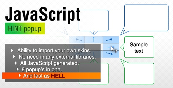 JavaScript HINT popup - CodeCanyon Item for Sale