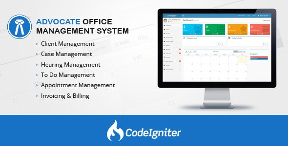 Advocate Office Management System - CodeCanyon Item for Sale