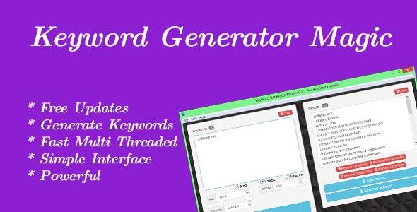 Keyword Generator Magic - CodeCanyon Item for Sale