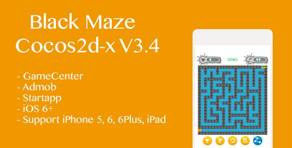 Black Maze Game Cocos2d-x v3.4 - CodeCanyon Item for Sale