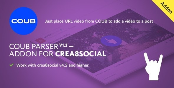 COUB PARSER V1.0 — Addon for crea8SOCIAL - CodeCanyon Item for Sale