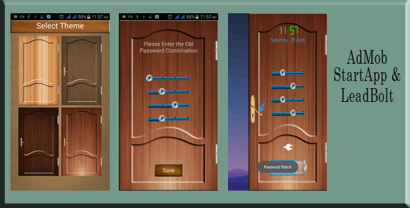 Door Screenlock with Admob, StartApp and LeadBolt