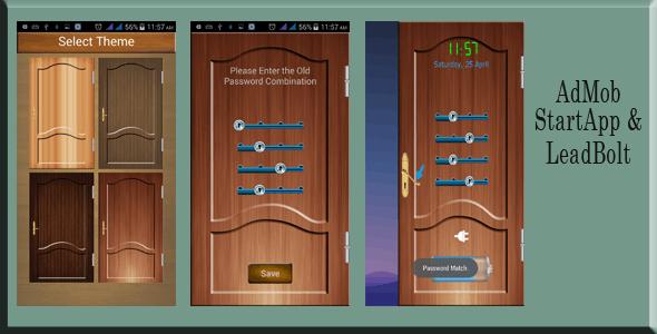 Door Screenlock with Admob, StartApp and LeadBolt