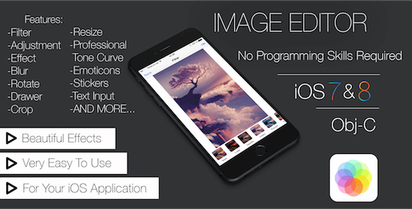 Image Editor App Template (iOS) with iAd/Admob