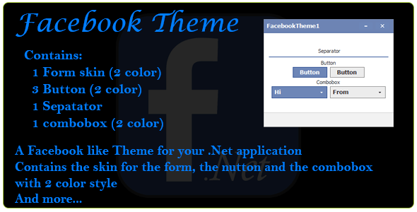 Facebook Theme for .Net