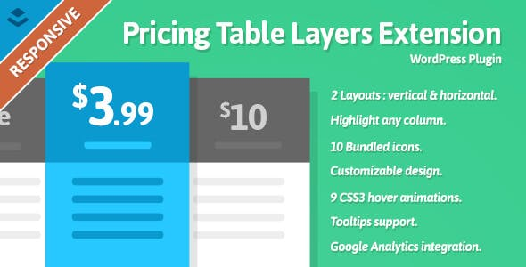 Pricing Table Layers Extension - WordPress Plugin