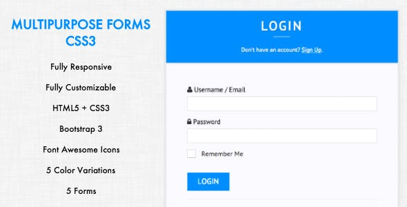 Multipurpose Forms - CSS3