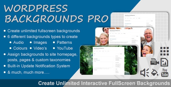 WordPress Backgrounds Pro - CodeCanyon Item for Sale
