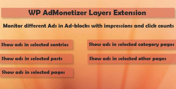 Layers - WP AdMonetizer  Pro Extension