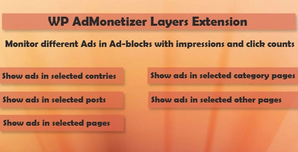 Layers - WP AdMonetizer  Pro Extension - CodeCanyon Item for Sale