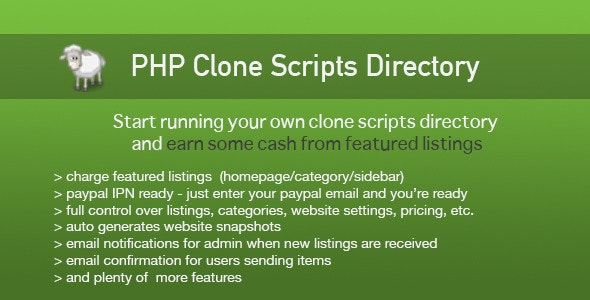 PHP Clone Scripts Directory - CodeCanyon Item for Sale