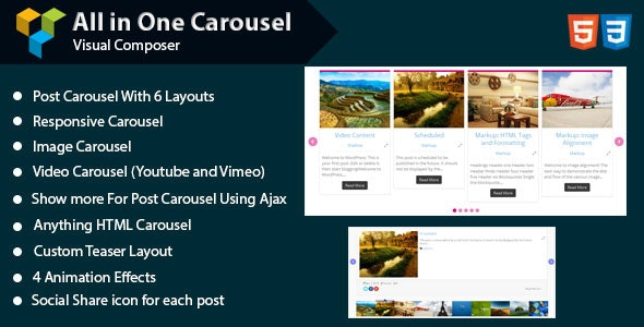 WPBakery Page Builder - All in One Carousel (formerly Visual Composer) - CodeCanyon Item for Sale
