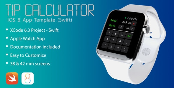 TipCalculator Apple Watch app in Swift - CodeCanyon Item for Sale