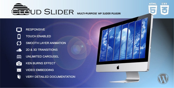 Cloud Slider - Responsive Wordpress Slider - CodeCanyon Item for Sale