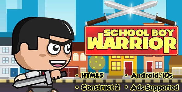 School Boy Warrior - HTML5 Android (CAPX) - CodeCanyon Item for Sale