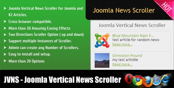 Joomla Vertical News Scroller - CodeCanyon Item for Sale