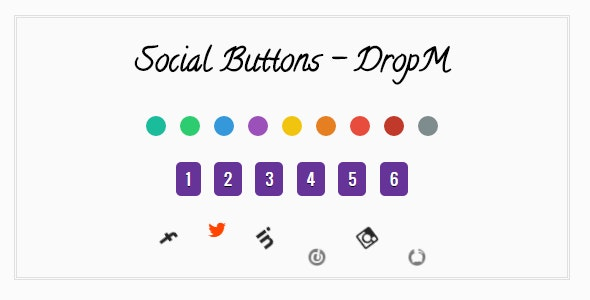 DropM Social Buttons - CodeCanyon Item for Sale