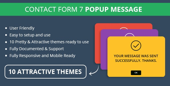 Contact Form 7 Popup Message - CodeCanyon Item for Sale
