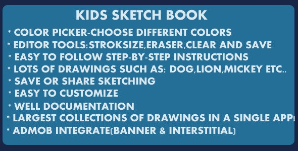 Kids Sketch Book - CodeCanyon Item for Sale