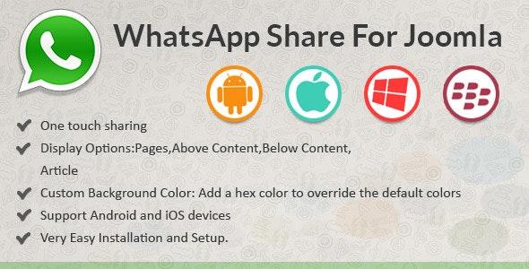 WhatsApp Share for Joomla - CodeCanyon Item for Sale