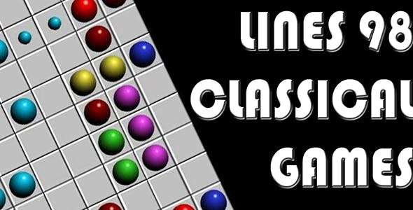 Lines 98 Classical Games HTML5 Template
