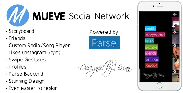 Mueve Social Network iOS - CodeCanyon Item for Sale
