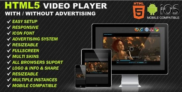 HTML5 Responsive Video Player & Advertising