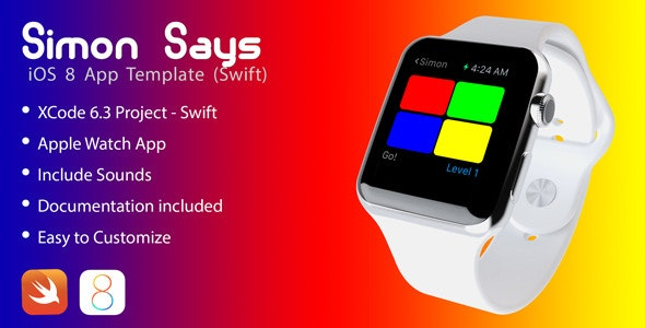 Simon game for Apple Watch in swift - CodeCanyon Item for Sale