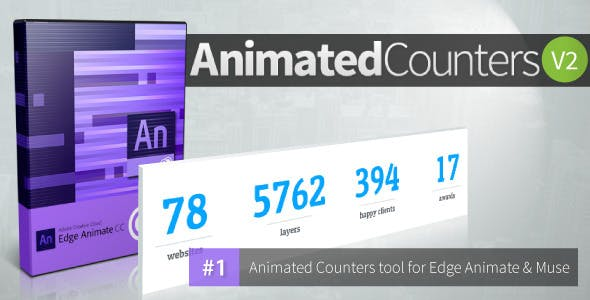 Animated Counters V 2.0 - Edge Animate Collection