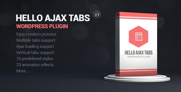 Hello Ajax Tabs WordPress Widget - CodeCanyon Item for Sale