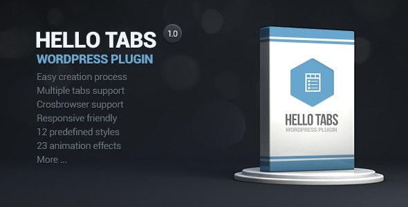 Hello tabs wordpress widget - CodeCanyon Item for Sale